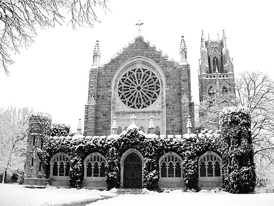 Snow Lined All Saints, Sewanee, TN