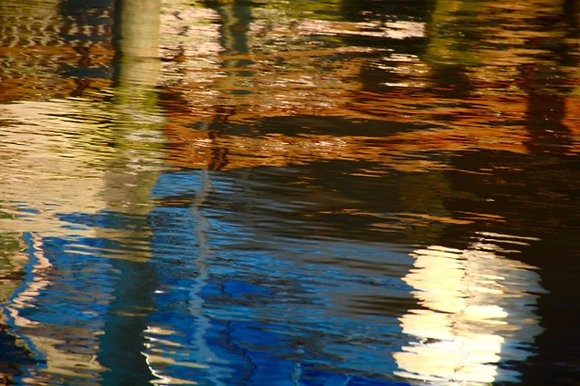 Water Colors Blue, reflections on Tchefuncte River