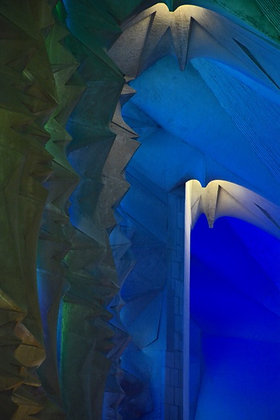 Blue 3601, God's light pours through Gaudi's design, Barcelona
