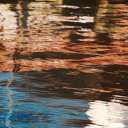 Tchefuncte Orange, reflections on Tchefuncte River