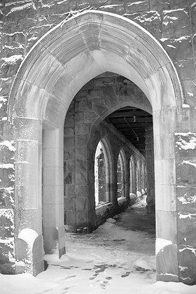 Archway in Snow, Sewanee, TN