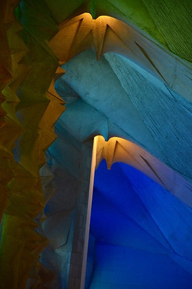 Sacred Vertical, God's light pours through Gaudi's design, Barcelona