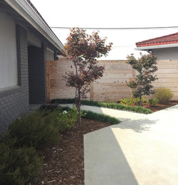 Front Yard Installation with Fence