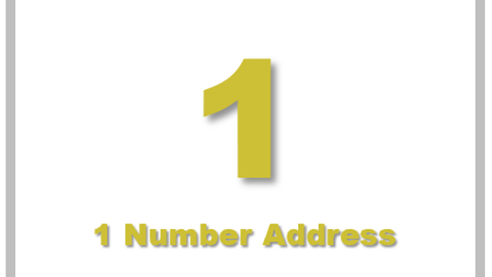 1 Number Address