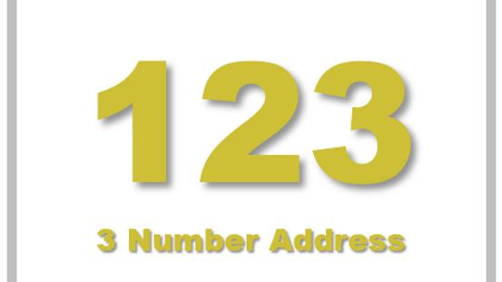 3 Number Address