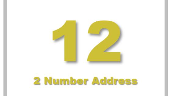 2 Number Address