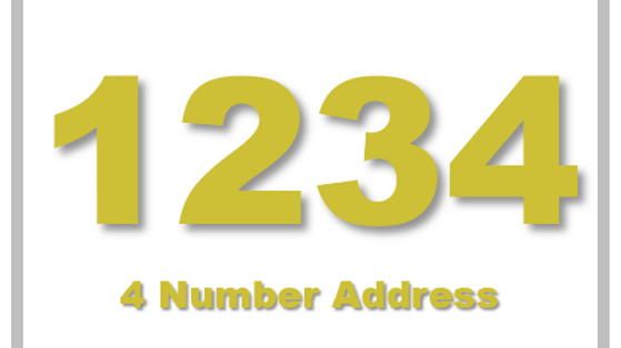 4 Number Address
