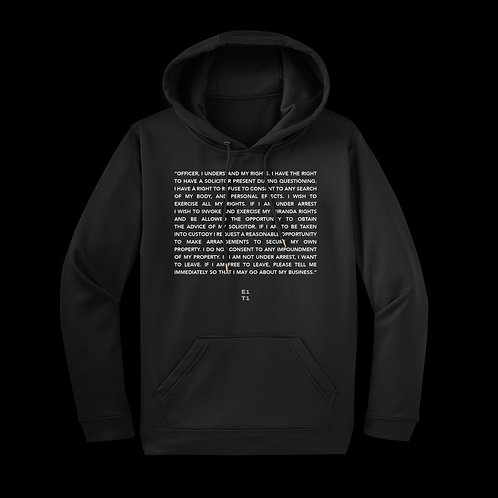 Know Your Rights - Hoodie (Black)