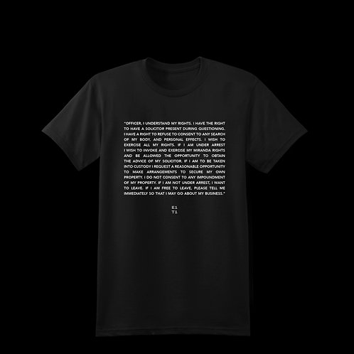 Know Your Rights - Tee (Black)