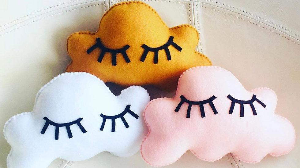 Sleepy eye nursery/crib pillow