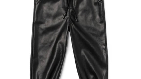 OMAMImini - Faux leather joggers