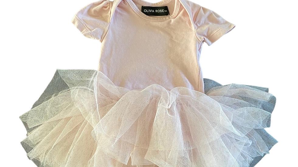 (Consignment) Olivia Rose onesie dress 0-3m