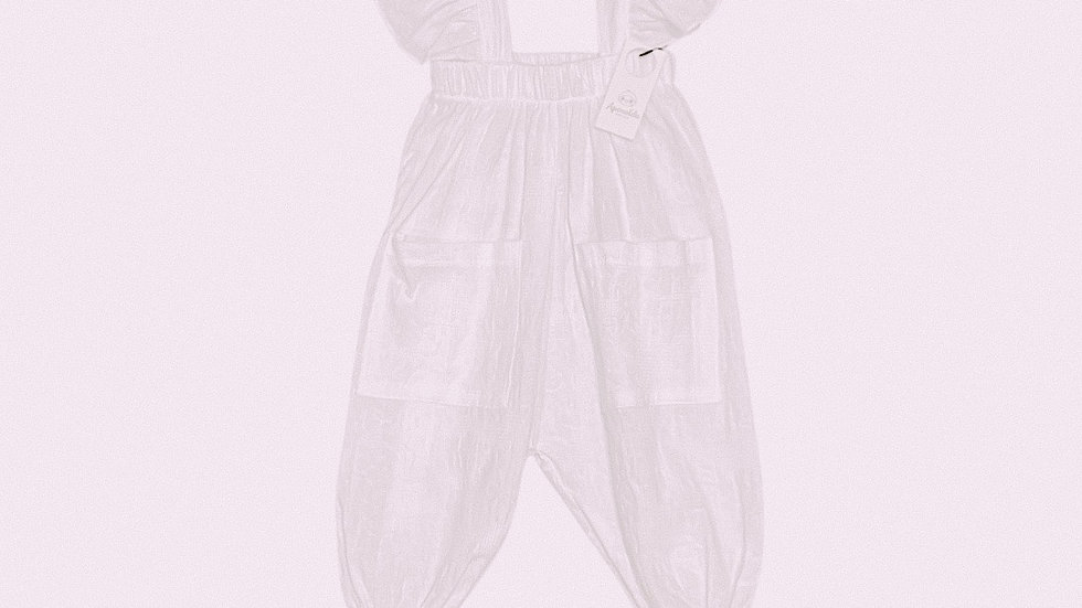 Apenalda - White Linen jumpsuit