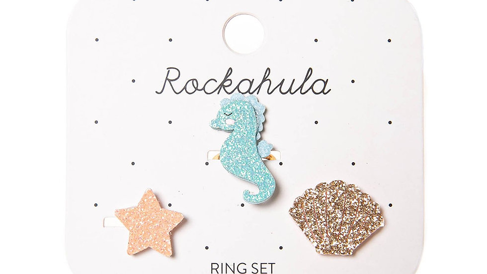 Rockahula ring set x 3 - Ocean Theme