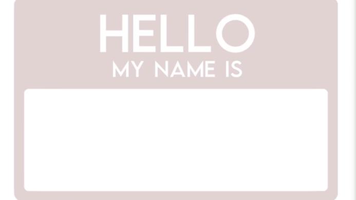 HELLO my name is - birth announcement sticker