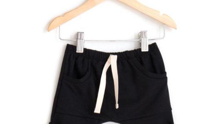Posh & cozy - pocket jogger shorts BLACK