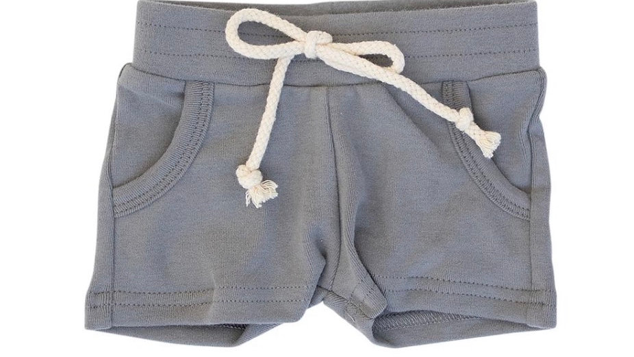 Mebie - Slate cotton pocket shorts