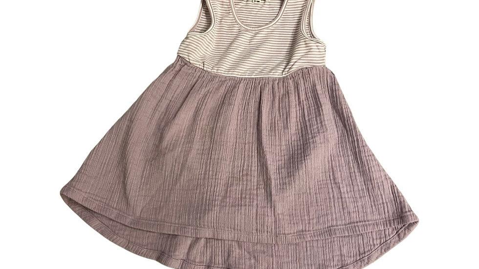 (Consignment) Greige summer dress 12-18m
