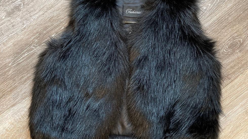 (Consignment) no name faux fur vest