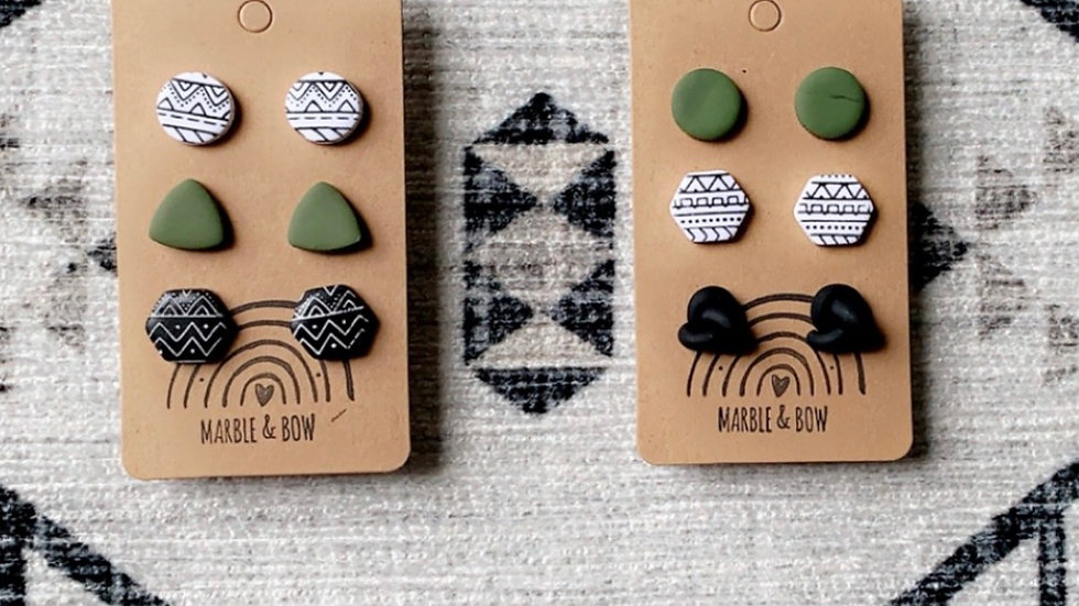 Marble + Bow - Aztec stud 3 pack
