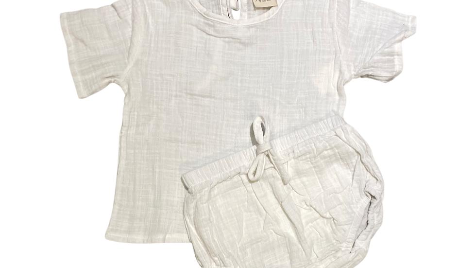 Apenalda - White linen bloomer set