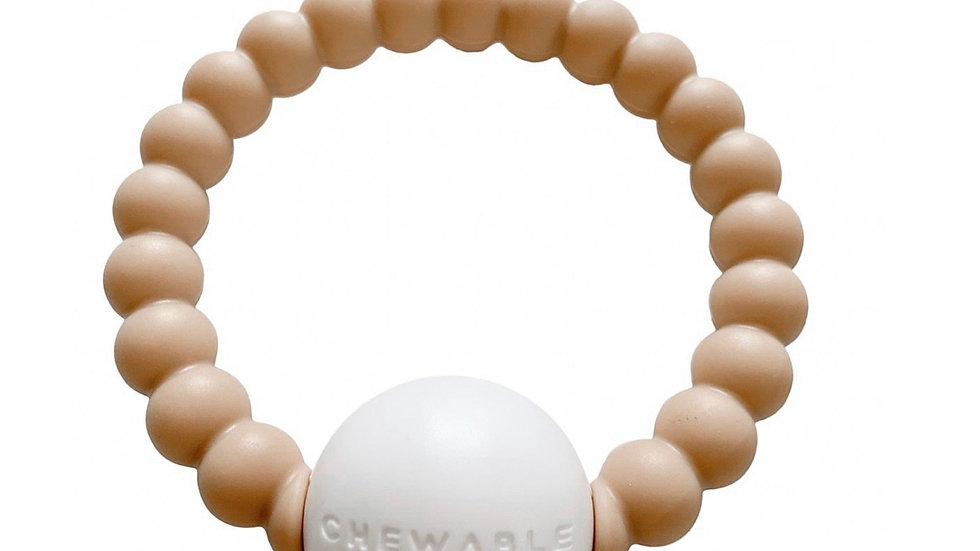 Chewable charm - teether rattle toy (nude color)