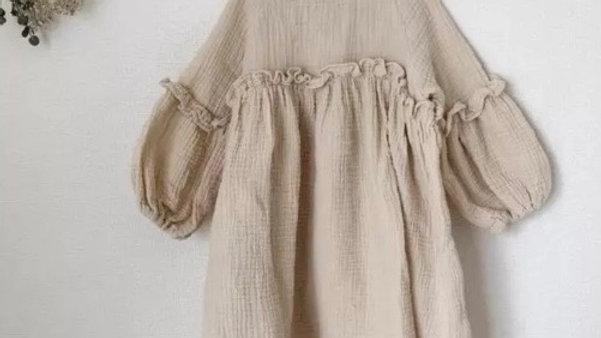 Apenalda - Linen puff dress