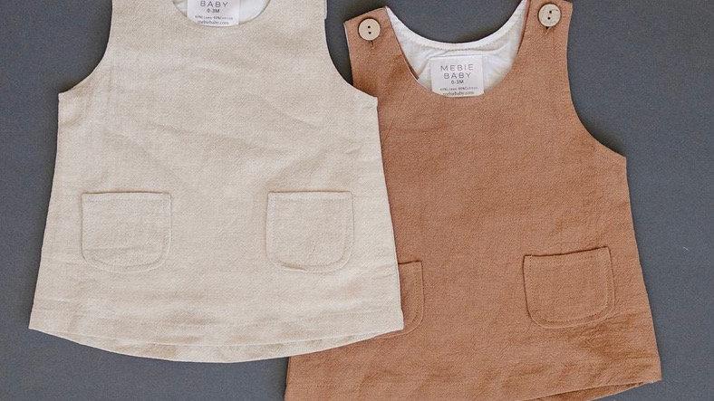 Mebie - pocket linen dress