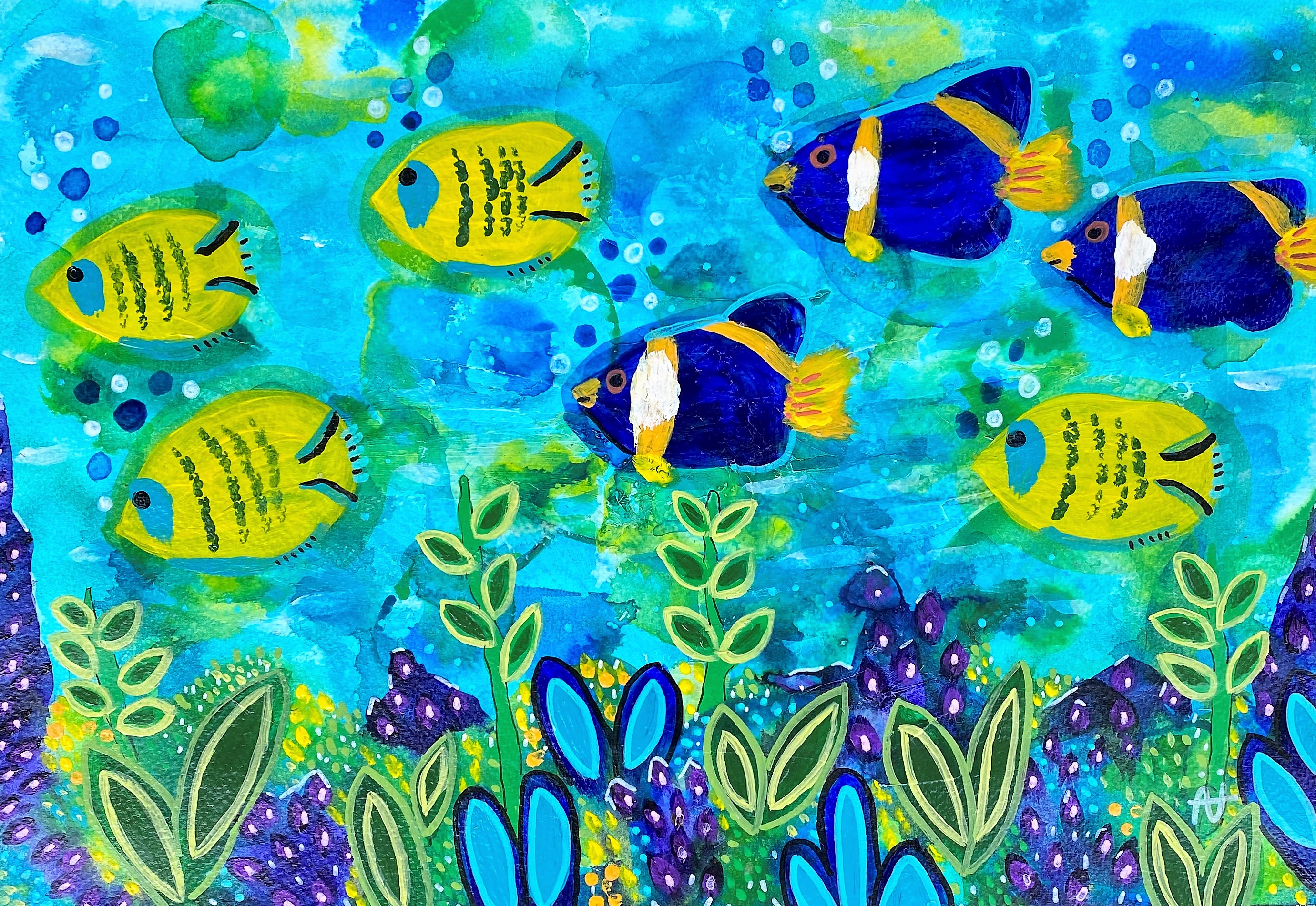 Yellow and Blue Fish