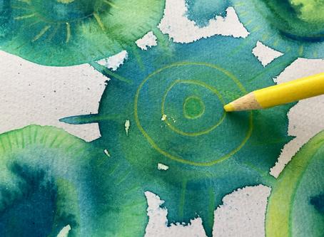 The Process of Creating Mixed Media Circle Art