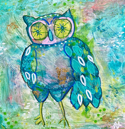 Owl- Mixed Media