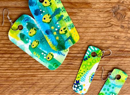 Making Paper Earrings - Mini Artworks!