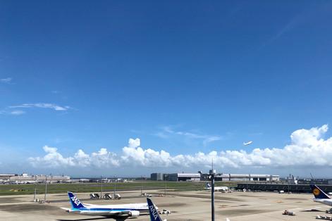 Sky of August|Sky Photo|Tokyo International Airport|Haneda|Tokyo|Japan|空の写真|東京国際空港|Takako Kanawa|Shoichi Design|金輪 貴子