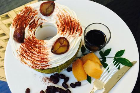 Malon Chiffon Cake|GARDEN CAFE with TERRACE BAR|Takako Kanawa|Shoichi Design|金輪 貴子