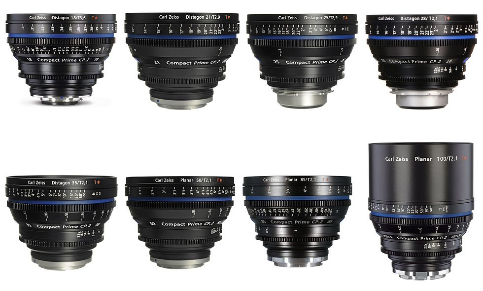 Zeiss Compact Prime CP.2 8 Lens Set (18,21,25,28,35,50,85,100mm) - EF Mount
