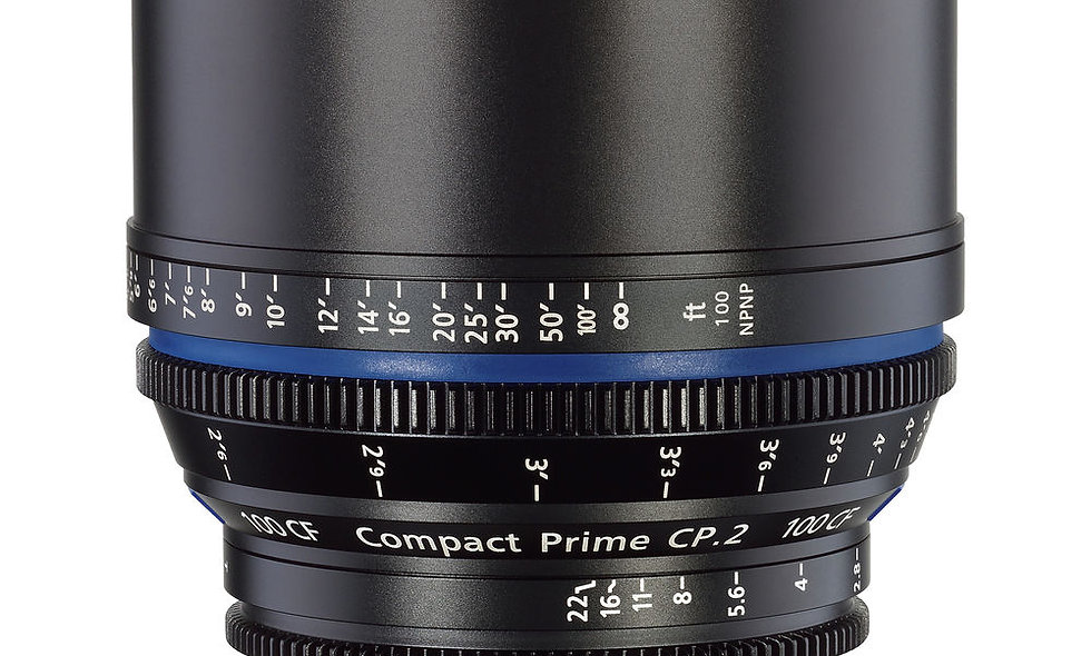 Zeiss Compact Prime CP.2 100mm/T2.1 CF Cine Lens - F Mount