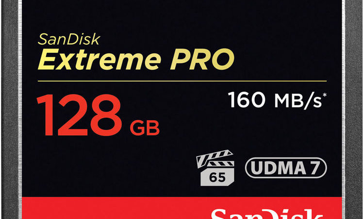 Sandisk 128GB Extreme/Extreme Pro CF Card