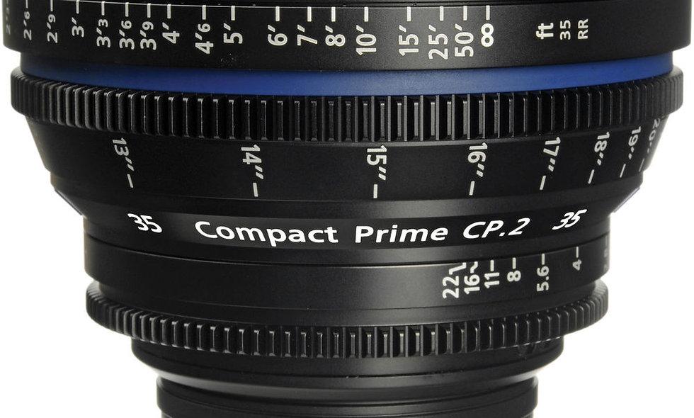Zeiss Compact Prime CP.2 35mm/T2.1 Cine Lens - PL Mount