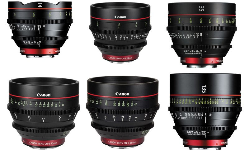 Canon EF Cinema Prime 6-Lens Set