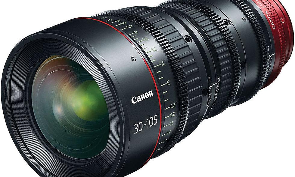 Canon CN-E 30-105mm T2.8 L S Telephoto Cinema Zoom Lens - EF Mount