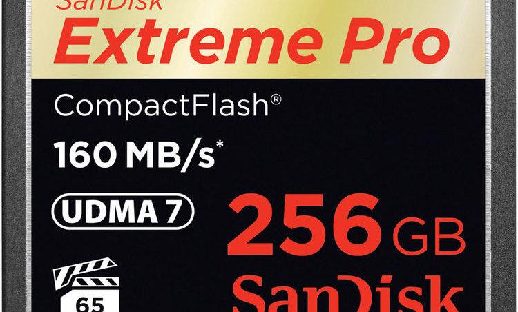 Sandisk 256GB Extreme/Extreme Pro CF Card