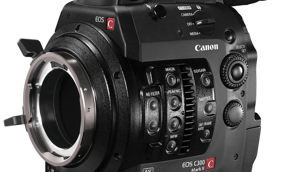 Canon C300 Mark II - PL Lens Mount