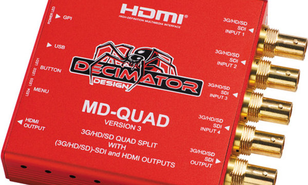 Decimator Quad 3G-HD/SD-SDI Quad Split