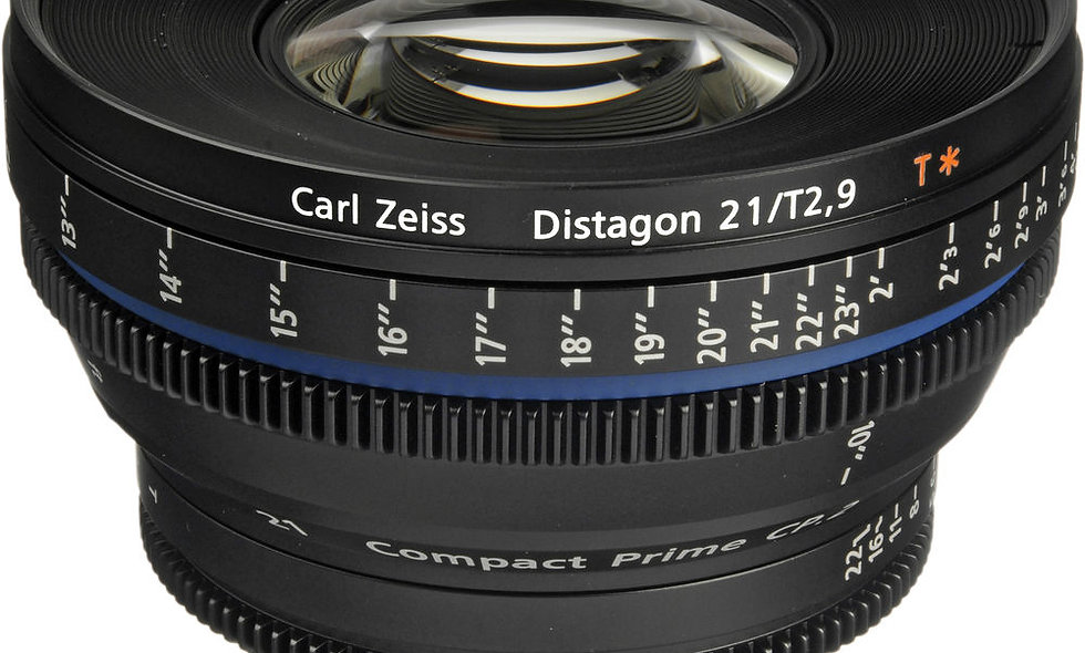 Zeiss Compact Prime CP.2 21mm/T2.9 Cine Lens - F Mount