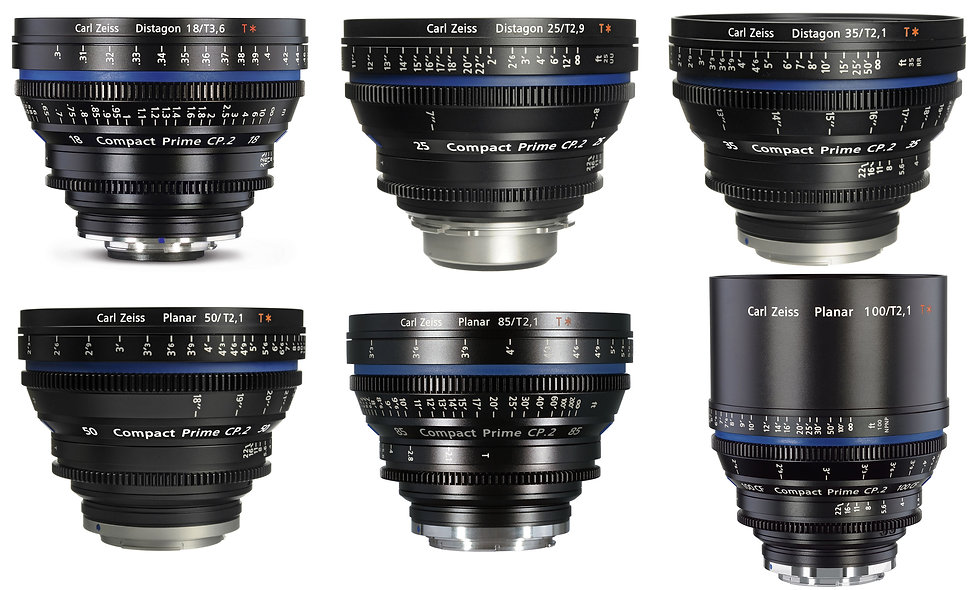 Zeiss Compact Prime CP.2 6 Lens Set (18,25,35,50,85,100mm) - PL Mount