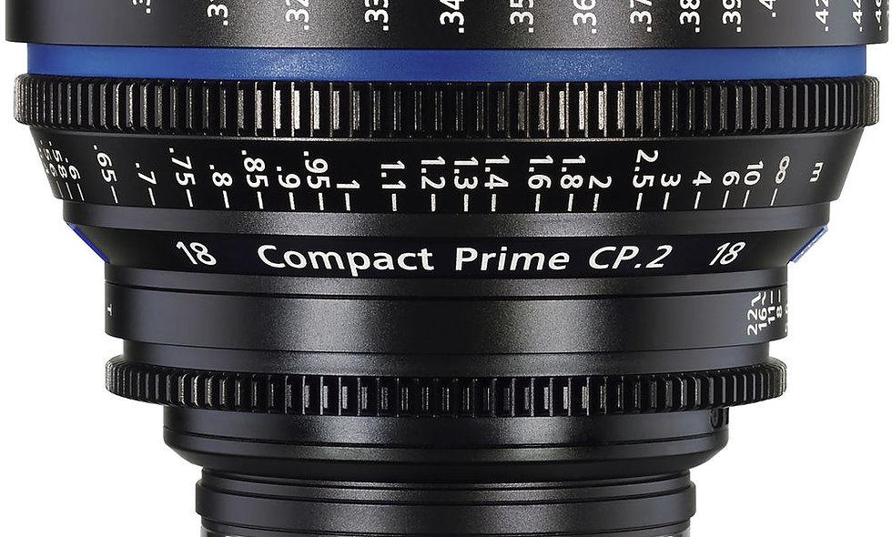 Zeiss 18mm/T3.6 CP.2 Compact Prime Cine Lens - PL Mount