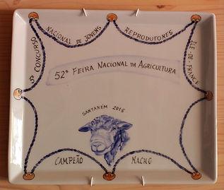 Prémio: Campeão Macho Ile-de-France.  Prémio obtido na feira de Santarém.