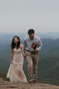 North Georgia Wedding. Preacher's Rock. Appalachian Trail.