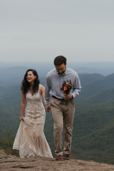 North Georgia Wedding. Preacher's Rock. Appalachian Trail.