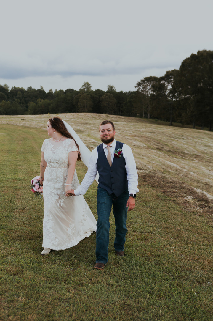 North Georgia Mountains Wedding. Couple Portraits. The Barn at Dunn Manor Wedding Venue.